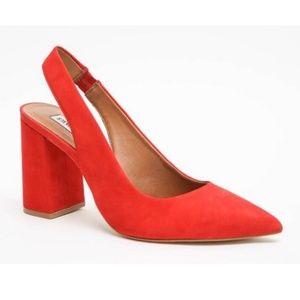 Steve Madden block heel slingback heels